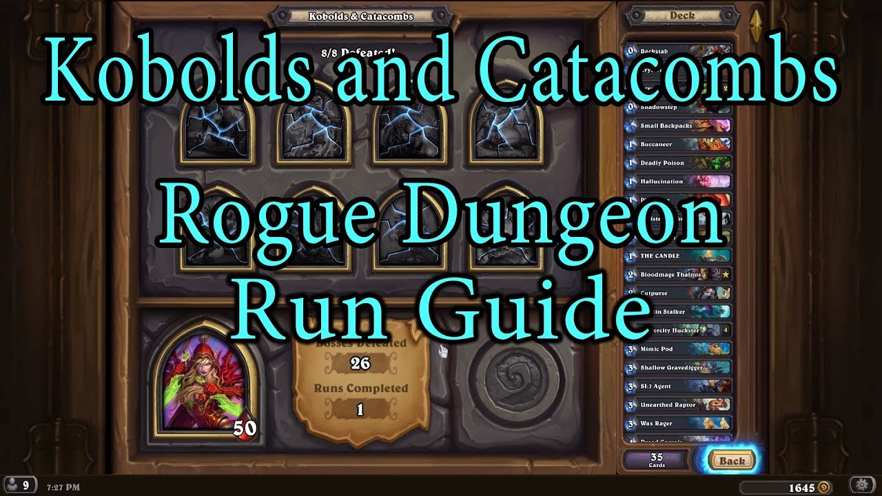 hearthstone kobolds and catacombs rogue guide