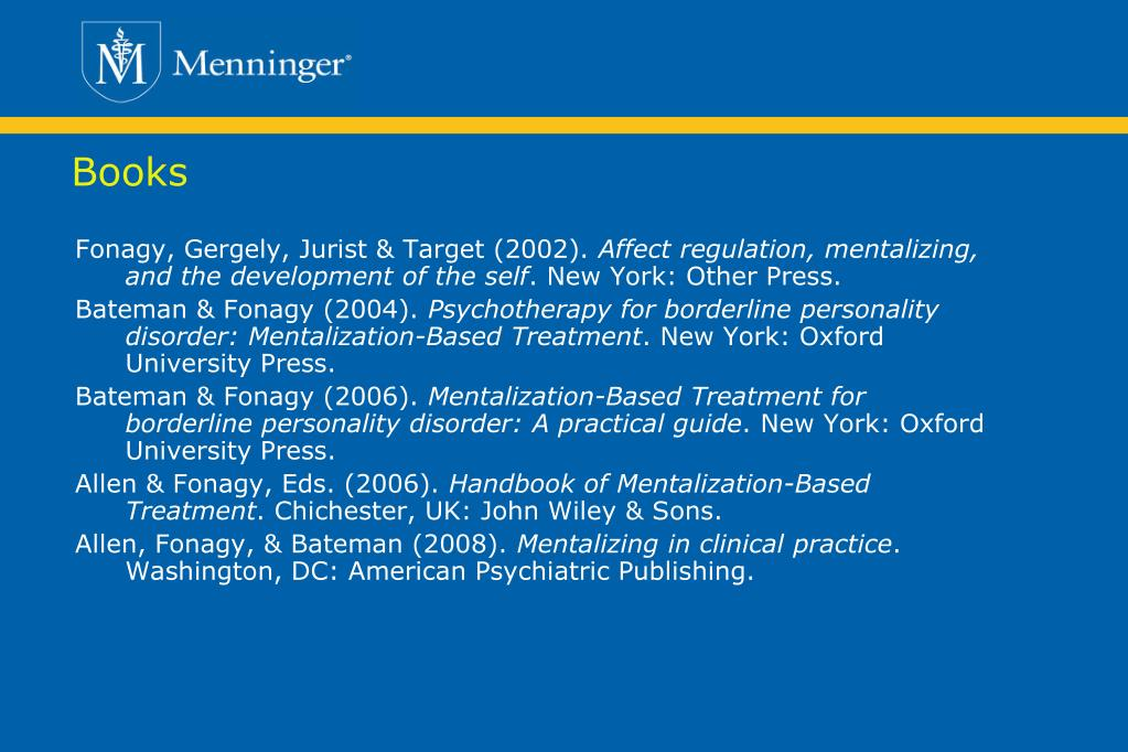 mentalization based treatment a practical guide