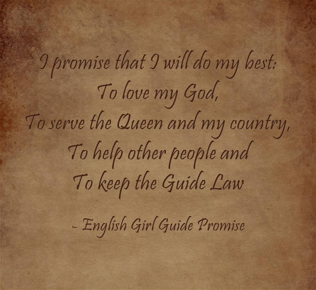 promise and law activities for girl guides