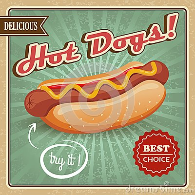 ultimate hot dog style guide poster