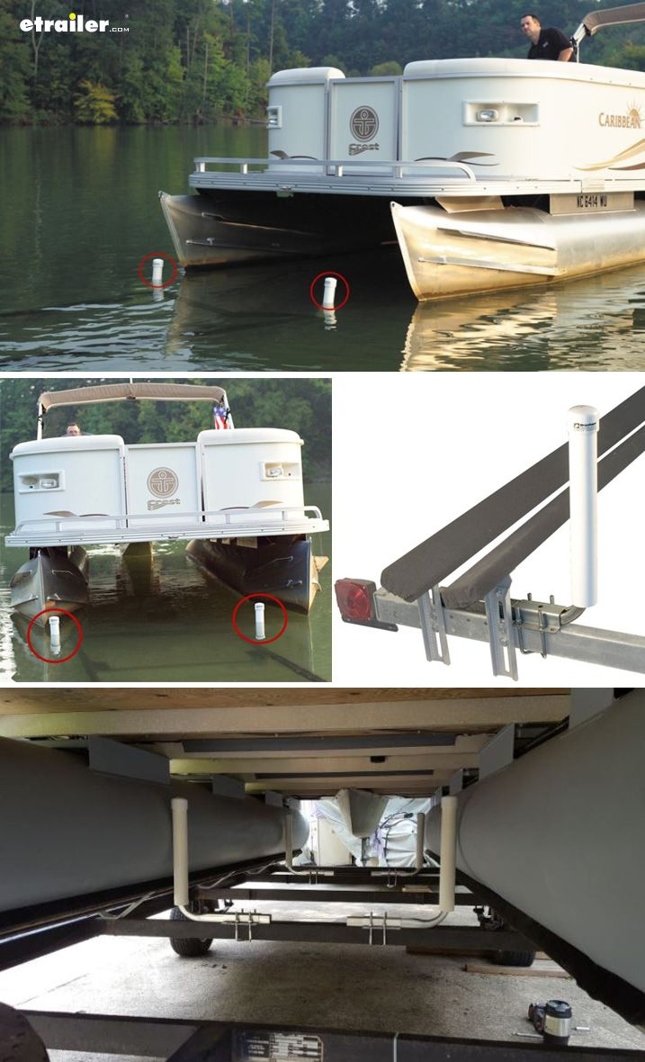 boat trailer guides with lights