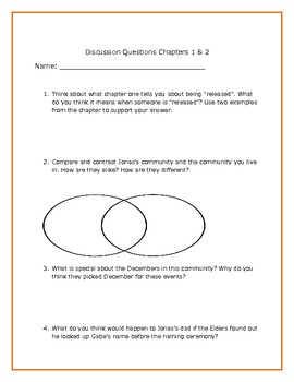 the giver study guide pdf