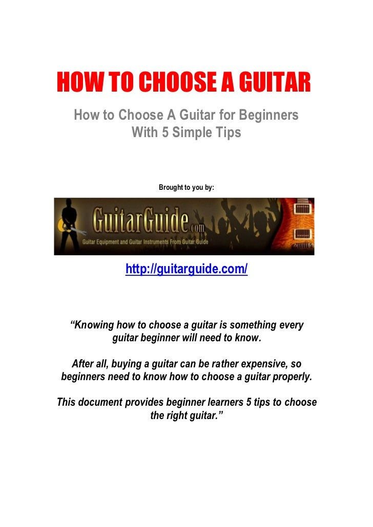 guitar buying guide for beginners