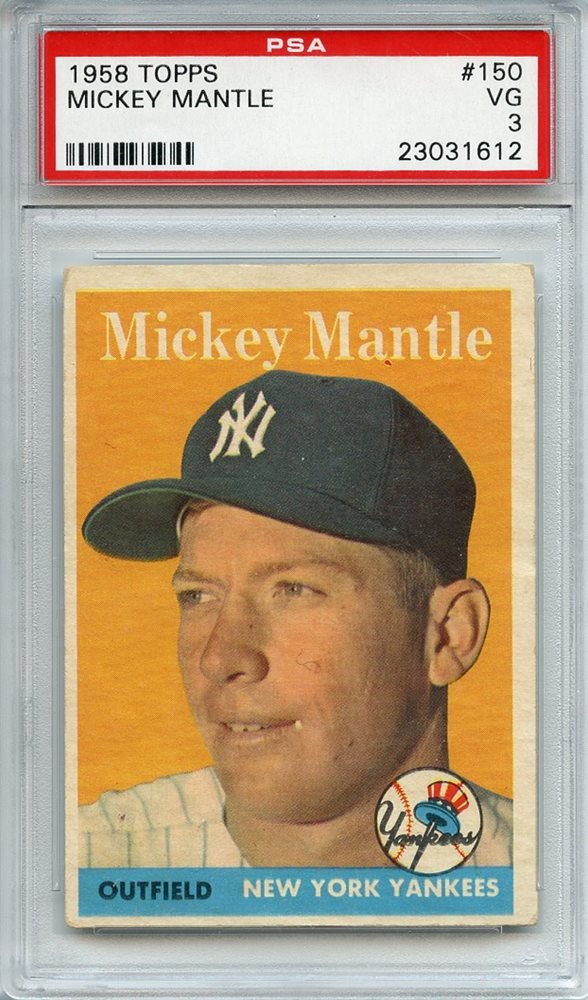 mickey mantle card price guide